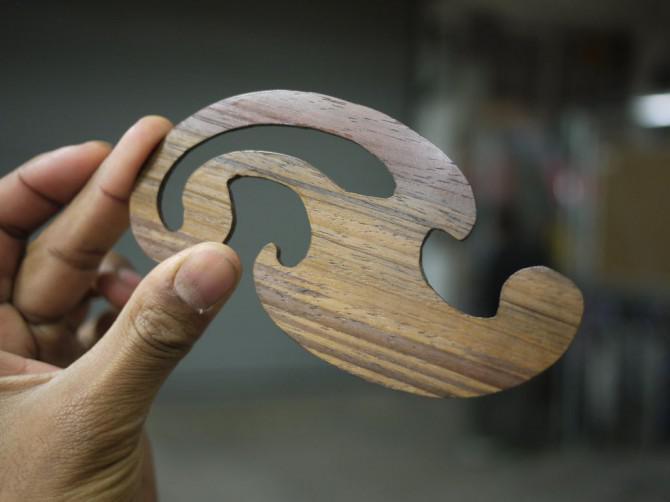 Wooden französisch Kurven - Made in Techshop