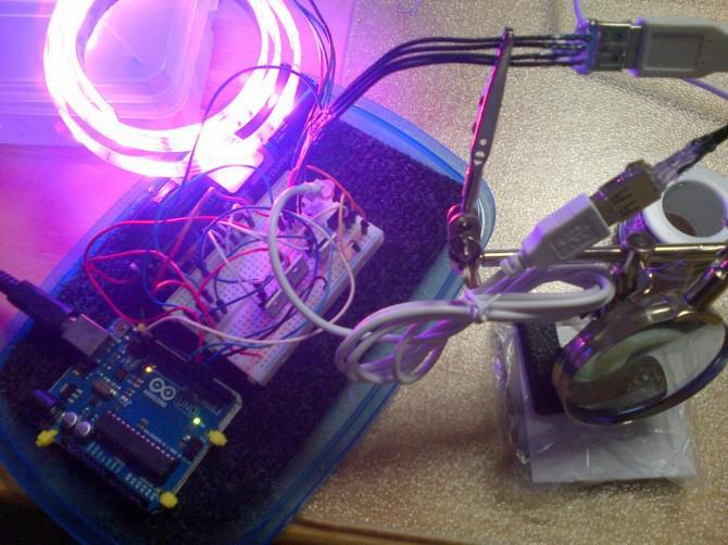 RGB-LED-Snowboard mit Arduino Uno R3