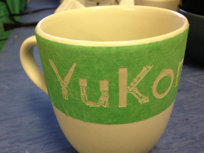 Maker geätzt Tassen und Schalen