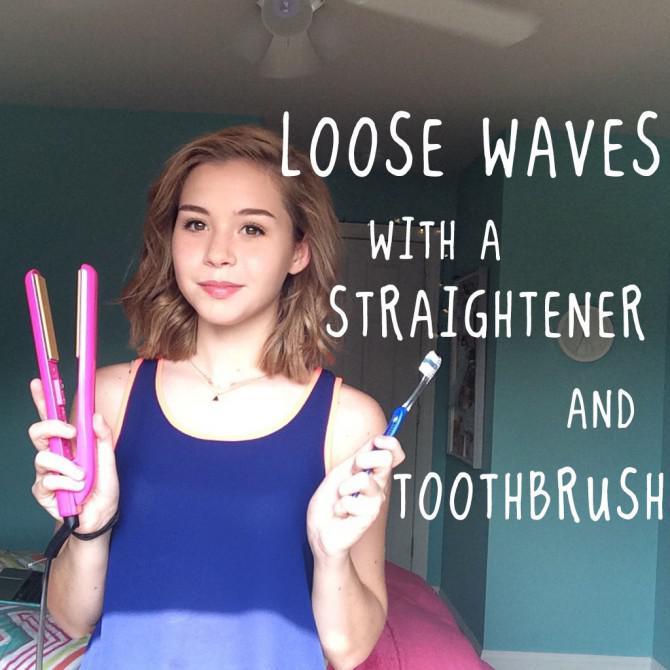 Losen Wellen mit einer Richt Und Zahnbürste