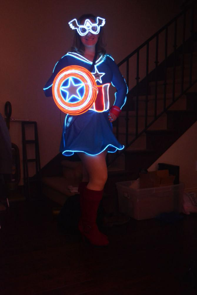 Frau Captain America Glow Kost 252 M