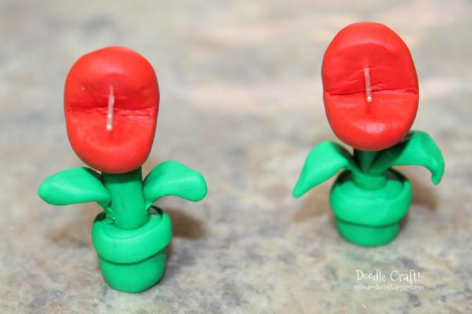 Mario Brothers Piranha Pflanze Ohrringe!