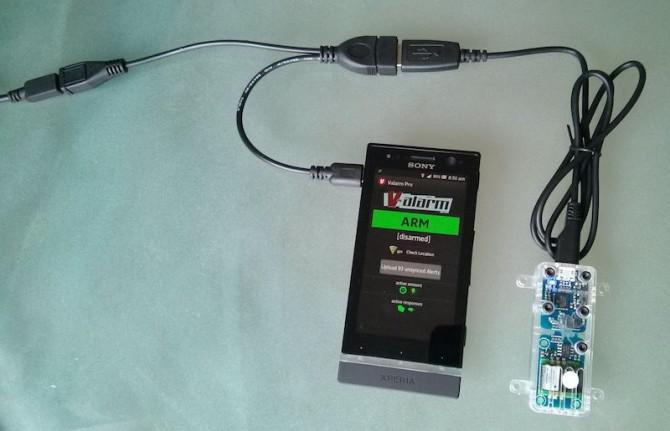Externe Sensoren + Lade w / Android USB aka Micro USB Host OTG Y-Kabel w / Power