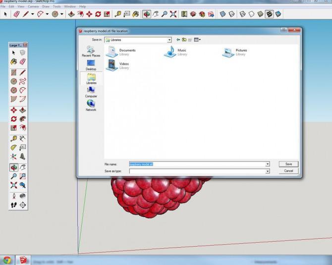 Raspberry Ice Pie W 3DPrinting