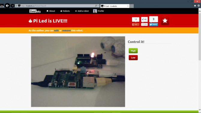Neues Internet-gesteuerte Roboter mit Livebots
