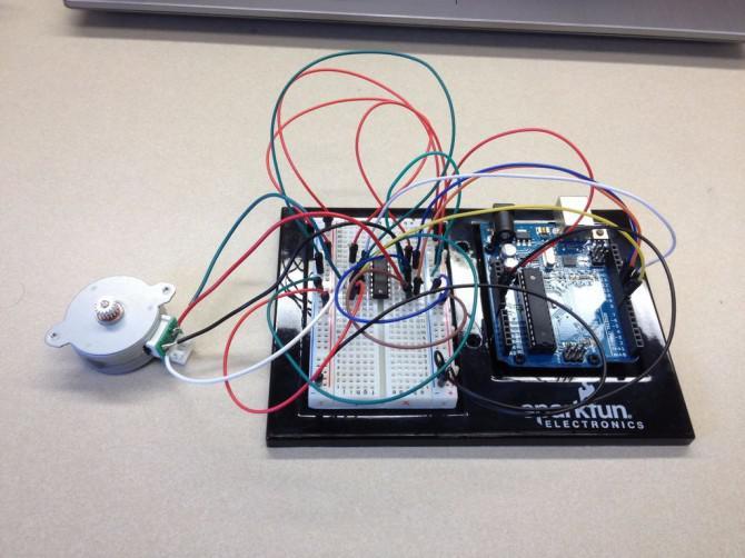 Steuerung eines Schrittmotor mit einem Arduino
