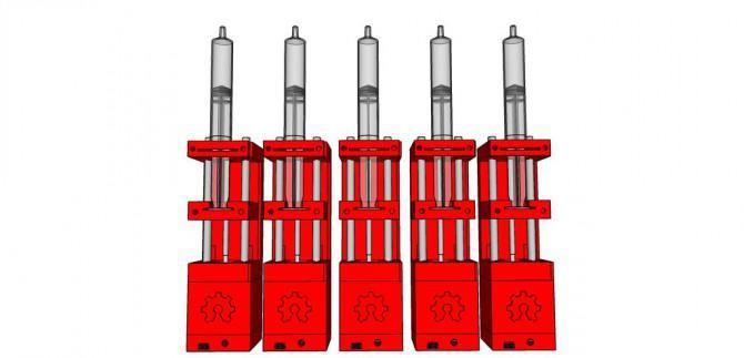 3D Printed Spritzenpumpe Rack-
