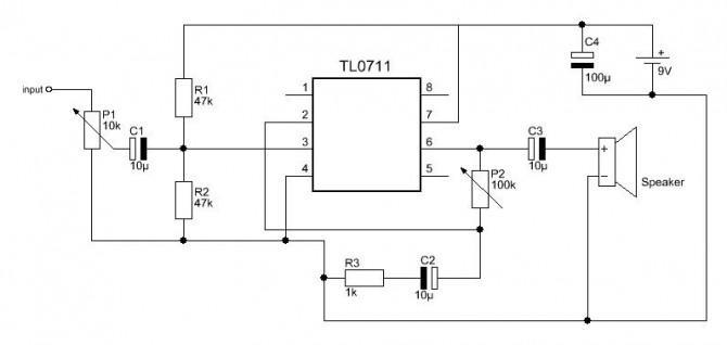 Einfache Audio-Verstärker
