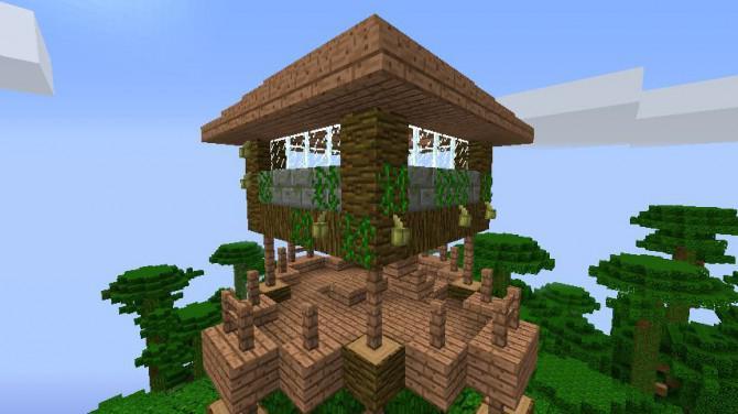 Fantastische Minecraft Jungle Treehouse - Minecraft haus ideen einfach