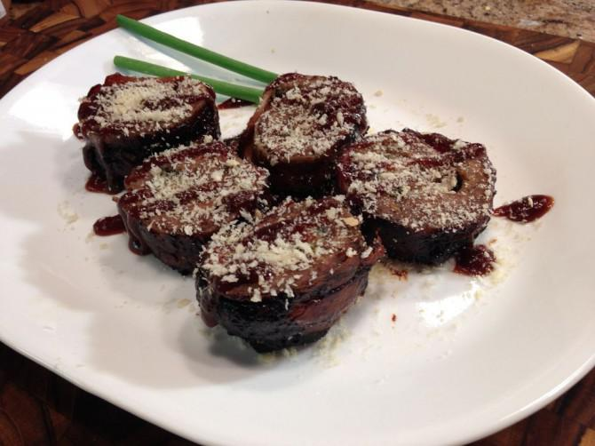 Speck Blue Cheese Burger Sushi