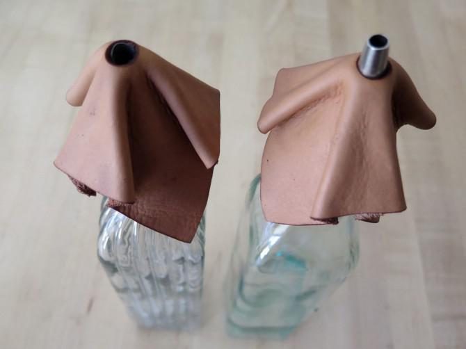 Machen Sie eine Leder-Lampenschirm