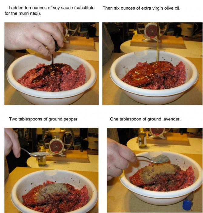 Merguez-Wurst: Lammwurst von The Anonymous andalusischen Kochbuch
