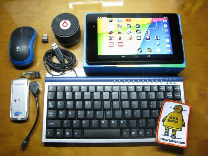 Tastatur & Maus für Tablets (Nexus 7)