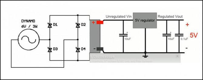 geregelte spannung  5v  fahrrad dynamo light  u0026 usb