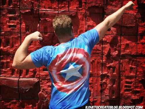 Captain America Tie Dye Avengers Hemd