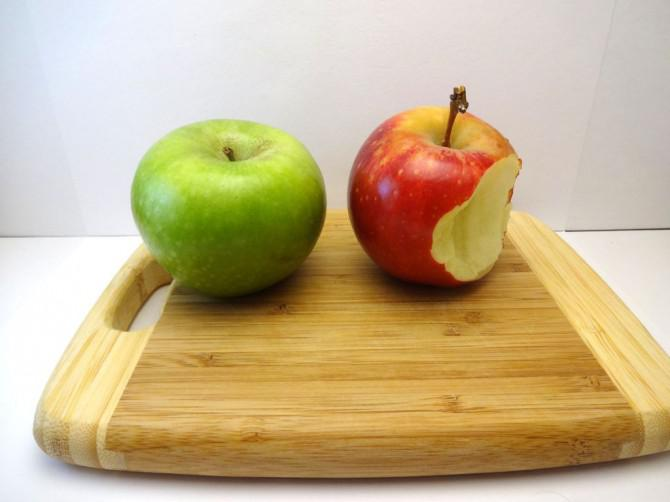 Vergleichen der Äpfel, Orangen, und Batterien