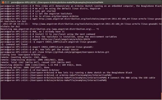 Arduino-Bibliotheken für Userspace-