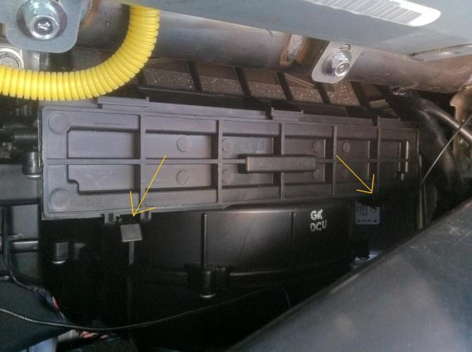 Wie man die Innenraumluftfilter auf der Hyundai Tiburon 2008 ersetzen