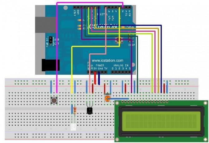 Infrarot Drahtlose Temperaturübertragung Alarm-System mit Arduino