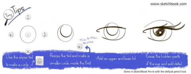 Tiny Tipps: Zeichnen Sie ein Anime Auge in Sketchbook Pro
