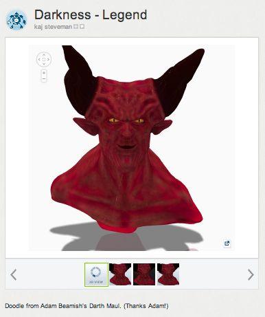Einen Karton Teufel mit 123D Make