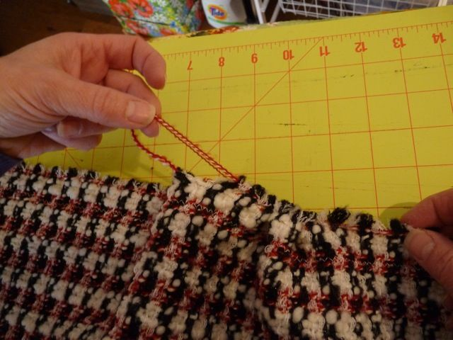 Easy One-Seam Boucle Stoff Schal
