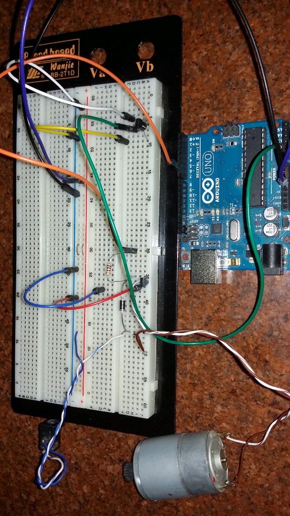 Mittels eines Temperatursensors die Drehzahl eines Motors mit Hilfe arduino steuern