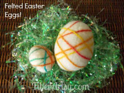 Verfilzte Wolle Easter Eggs