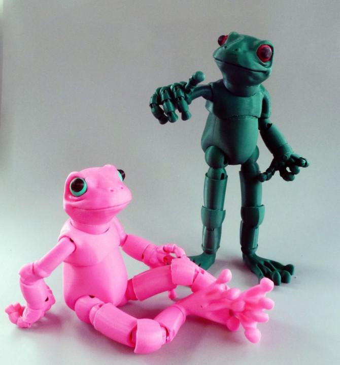 Froggy: Der 3D-Druck Durch Gelenk verbundene Puppe frog