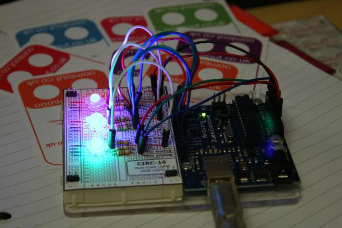 RGB-LED-Tutorial (mit einem Arduino) (RGBL)