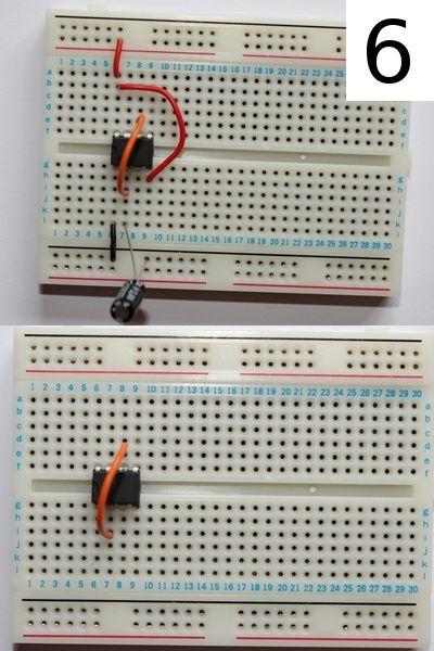 Blinkende LED mit 555 Timer