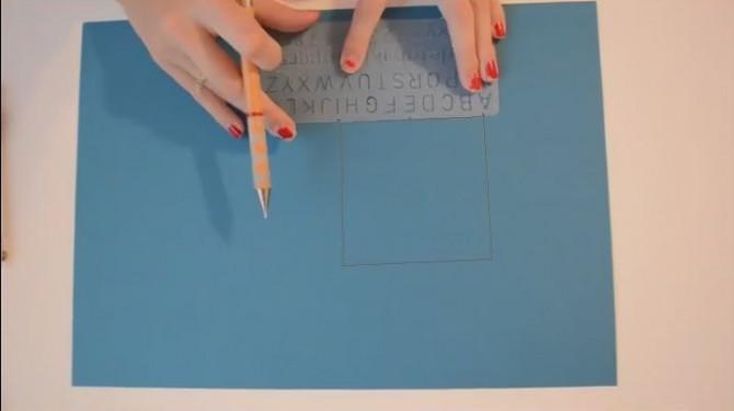 DIY - Einfache Papierkarte
