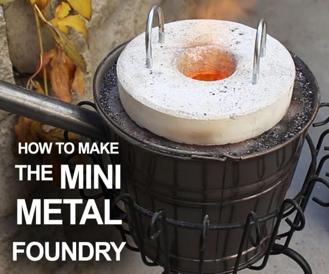 Wie man die Mini-Metall-Gießerei