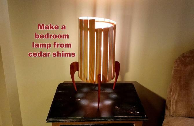 Machen Sie eine Bedroom Lampe Von Shims