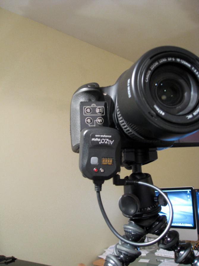 Weiträumige Canon DSLR Video-Triggerung (V2, stark vereinfacht)