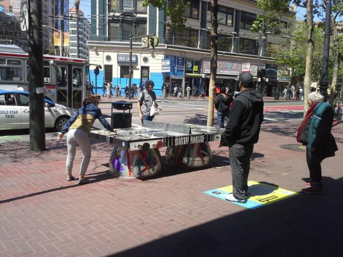 Die Volks Tabelle: Außen Öffentliche Ping Pong