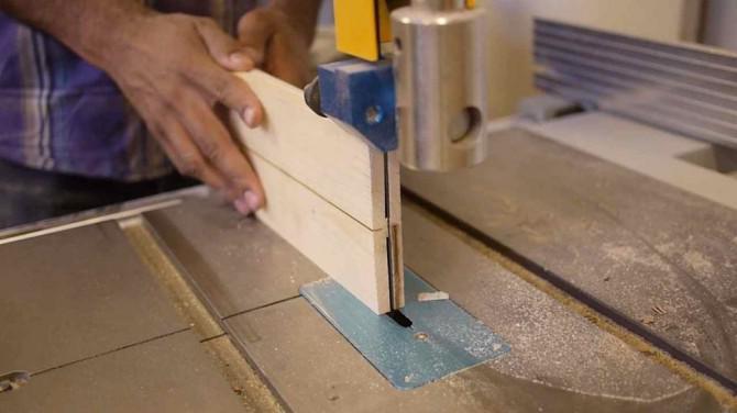 Trennbandsäge Holz auf der Bandsäge und Tischkreissäge - Made in Techshop