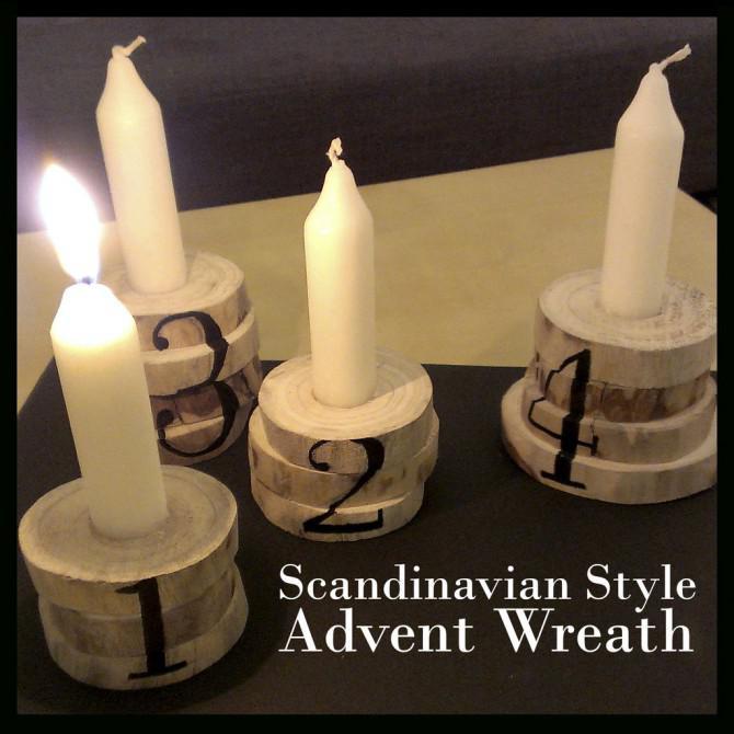 Skandinavischen Stil Adventskranz