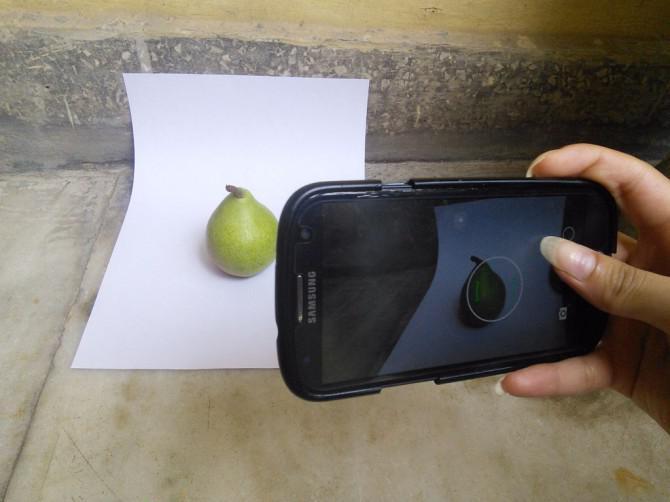 Pure White Background Fotografie Verwenden Smartphone
