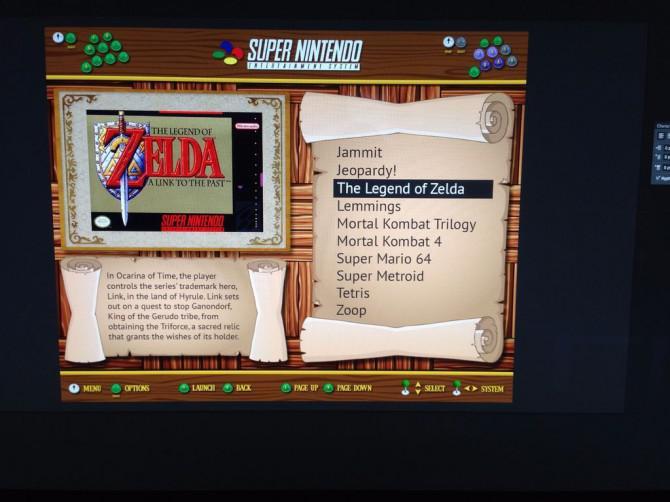 Legend of Zelda bartop Arcade Cabinet