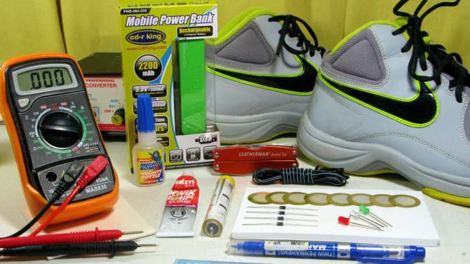 Electricity Gene Schuhe - Strom erzeugen zu Fuß (Konzept)