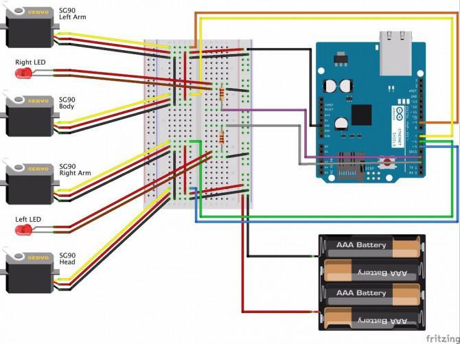 IoBot - Wie man ein Handy und Computer Controlled 3D Printed Roboter mit Arduino Stellen.