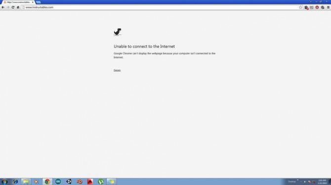 Spielen Sie ein Spiel in Google Chrome offline