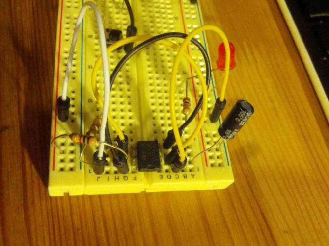 555-Timer blinkende LED-Schaltung
