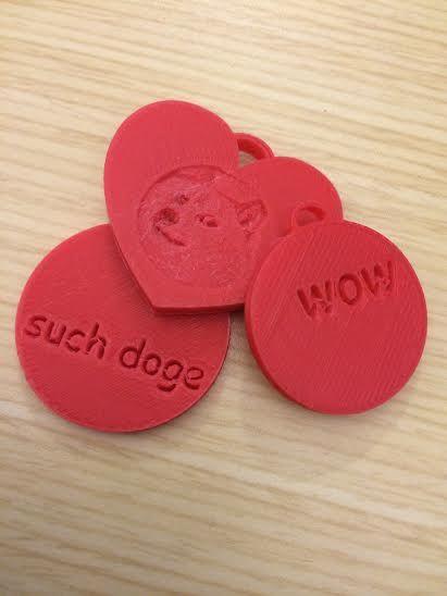 Anpassbare 3D Printed Charms zum Valentinstag