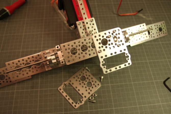 Der Aufbau einer Roboter, der Mauszeiger folgt