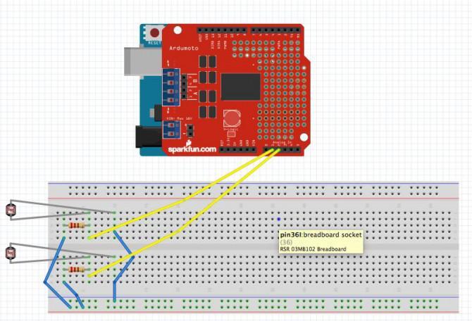 Einfache Arduino Licht folgenden Robot