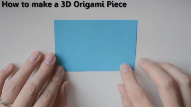 Indien 3D Origami Flag