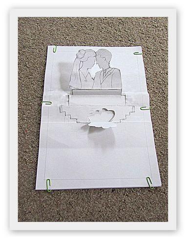 DIY 3D Pop Up Hochzeits-Einladung