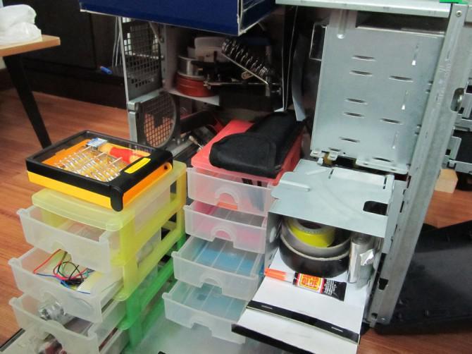 PC auf tragbare Workstation / toolbox